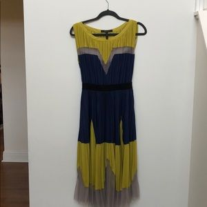BCBG pleated dress